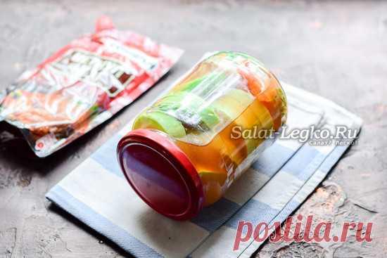 Кабачки с кетчупом чили на зиму в литровых банках без стерилизации, простой рецепт