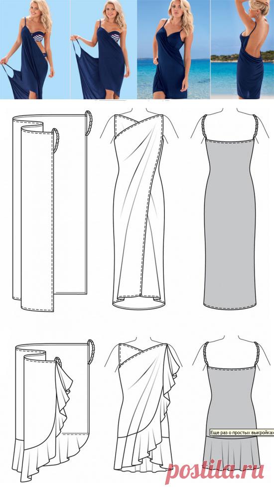 Como coser el vestido sin patrón   WomaNew.ru - las lecciones del ...