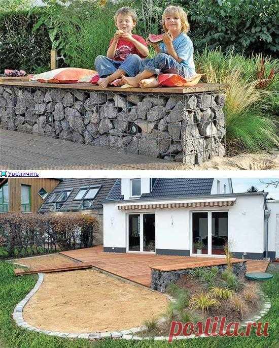 Габионы: садовая скамья. Хотите узнать как это делается?