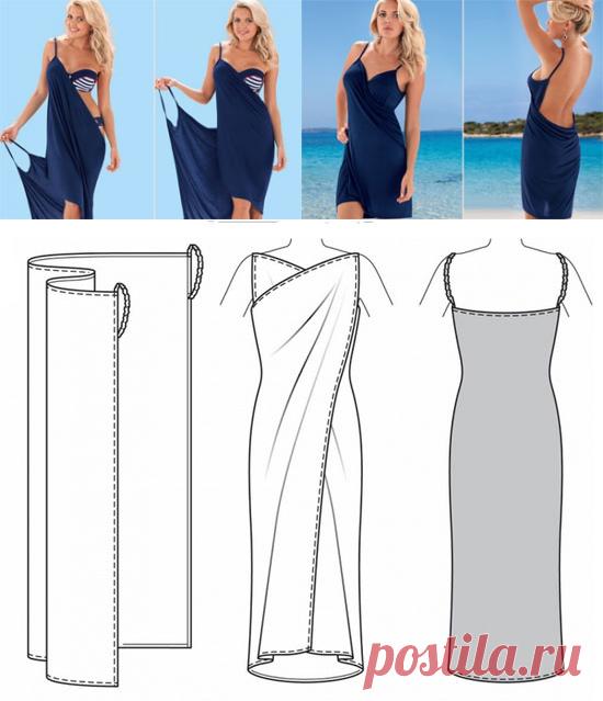 Как сделать платье из куска ткани для фотосессии