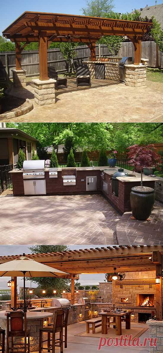 Идеи для обустройства кухни во дворе