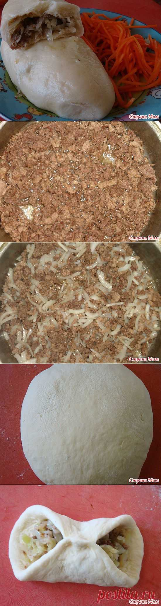 Пигоди-корейские пироги с мясом и капустой.