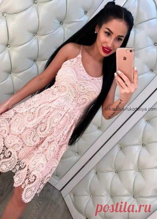 Платье крючком Платье крючком ирландским кружевом крючком. Платье узором турецкий огурец крючком