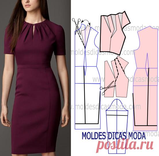 модели платьев с выкройками и схемами фото легко