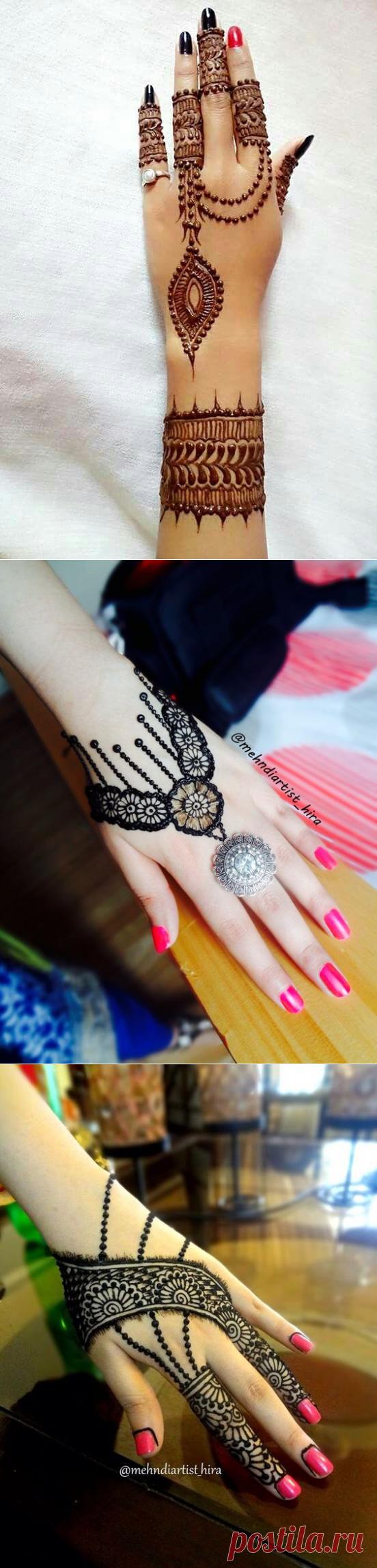 Подборка узоров для татуажа и росписи хной: кисти рук — Сделай сам, идеи для творчества - DIY Ideas