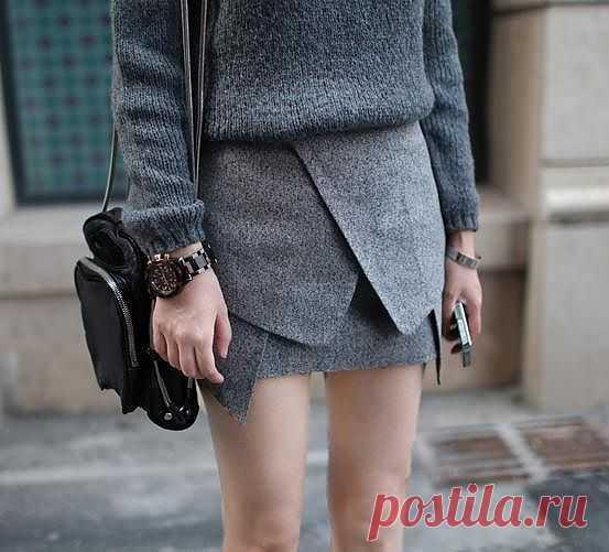"""Юбка """"из жакета"""" / Юбки и их переделки / Модный сайт о стильной переделке одежды и интерьера"""