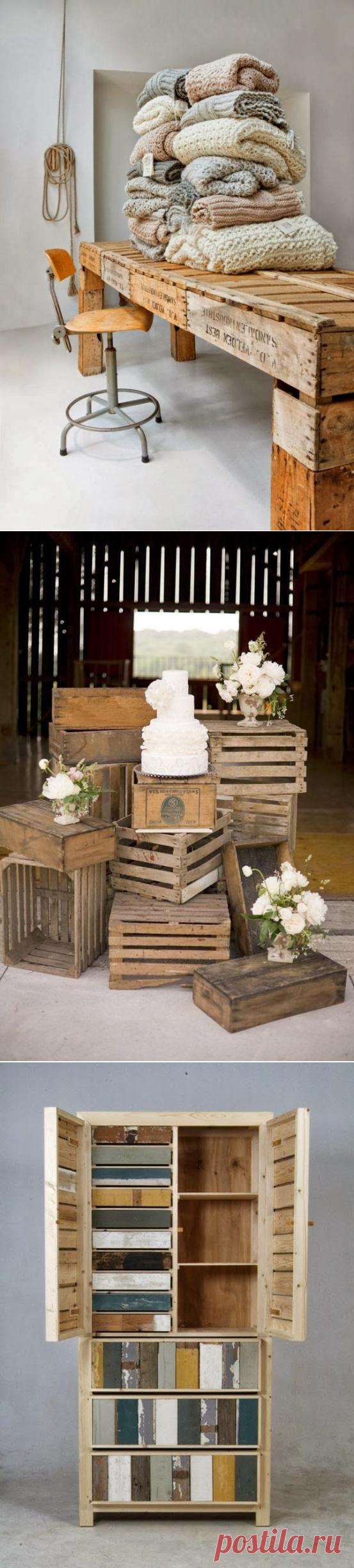 Оригинальные идеи мебели из старой древесины