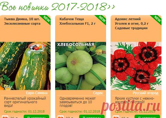 Интернет магазин семена почтой №1 в России