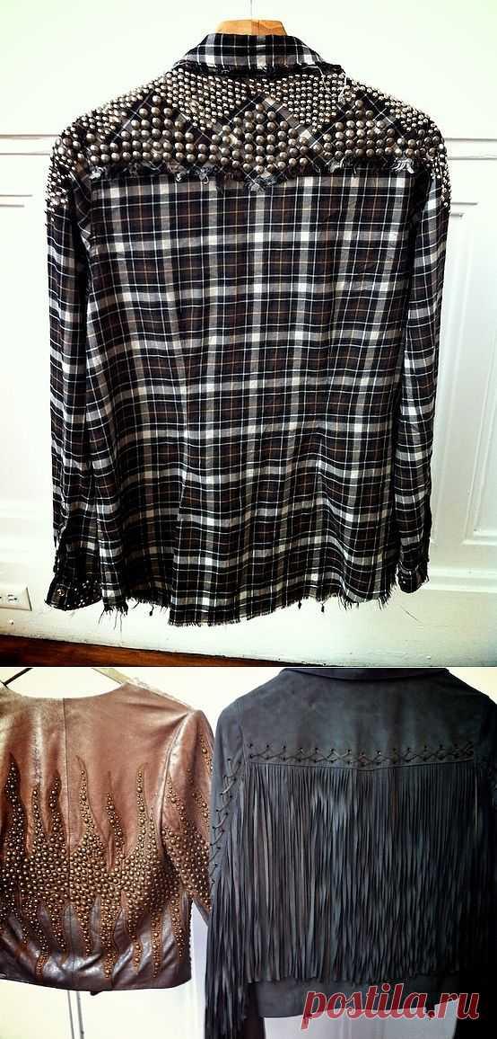 Рубашка и куртка с клепками / Декор / Модный сайт о стильной переделке одежды и интерьера