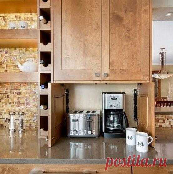 Практичные идеи, как лучше хранить мелкую бытовую технику на кухне Для того, чтобы поддерживать порядок на кухне, необходимо уделять внимание каждой детали. Такие незначительные мелочи, как тостер, стоящий не на своем месте, кухонный комбайн, занимающий место посеред...