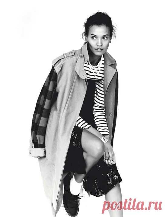 Рукава в клетку / Пальто и плащ / Модный сайт о стильной переделке одежды и интерьера