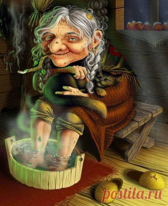 Смешные картинки, картинка прикольная баба яга