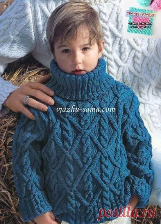 вязаные свитера для мальчиков большая подборка 1узорчатый свитер