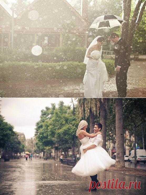 Важные советы о том, что стоит учесть, если в день свадьбы дождь.