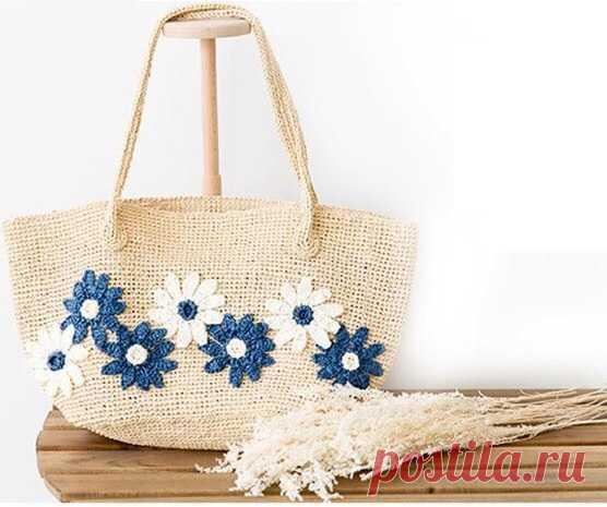 Вяжем крючком летнюю сумочку. Схемы. / knittingideas.ru