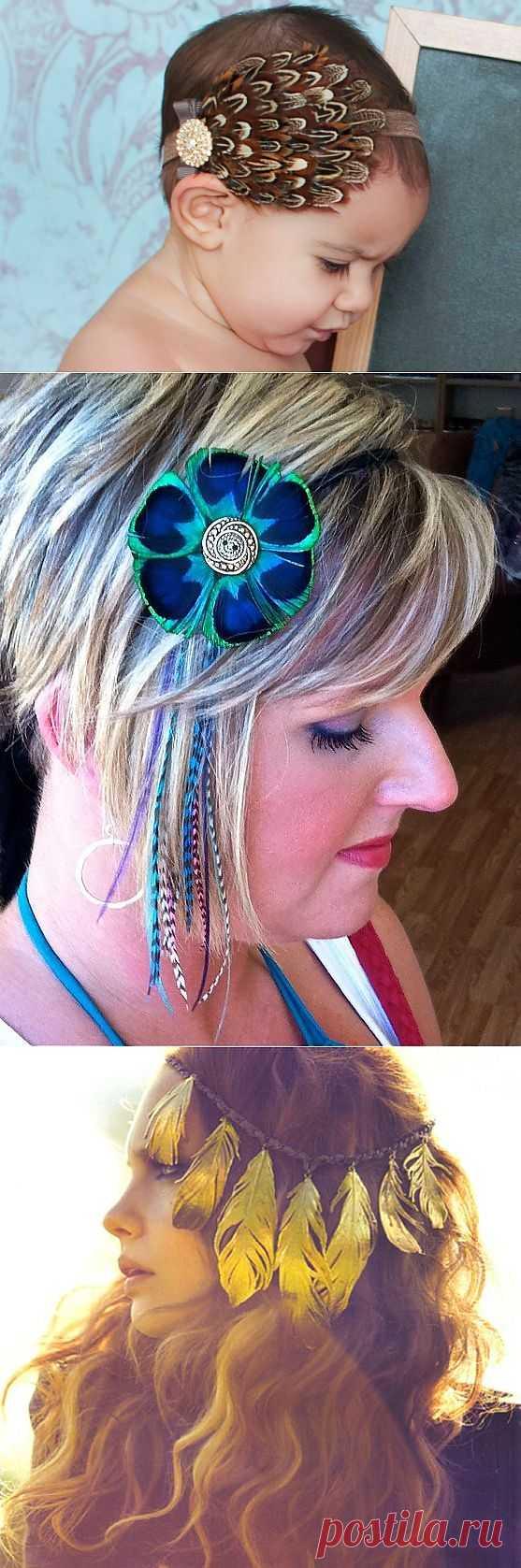 Перьевые украшения (DIY, подборка) / Украшения для волос / Модный сайт о стильной переделке одежды и интерьера
