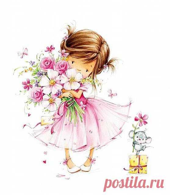 Открытка с днем рождения для дочки нарисовать