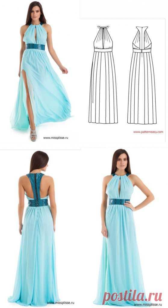 Как сшить летнее платье в пол выкройка фото