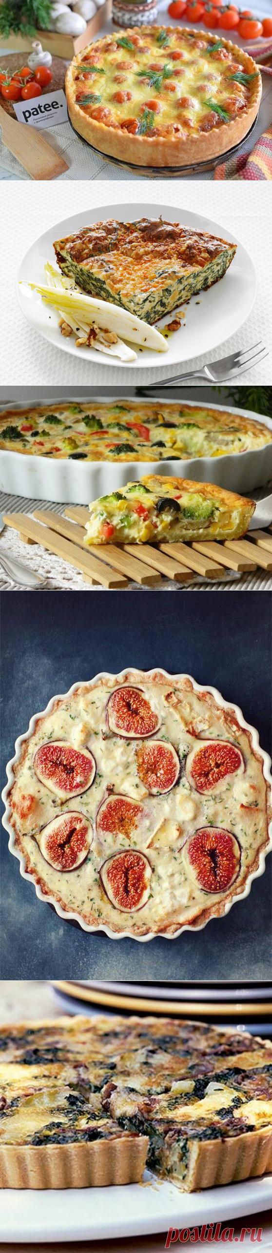 Французский киш: 8 вариантов открытых пирогов — Вкусные рецепты