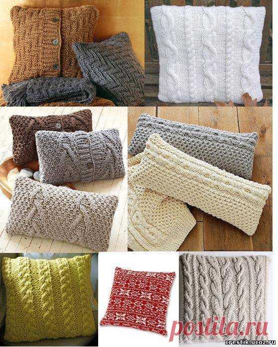 Как сделать вязанную подушку - Декоративные вязаные подушки своими руками: мастер-классы по