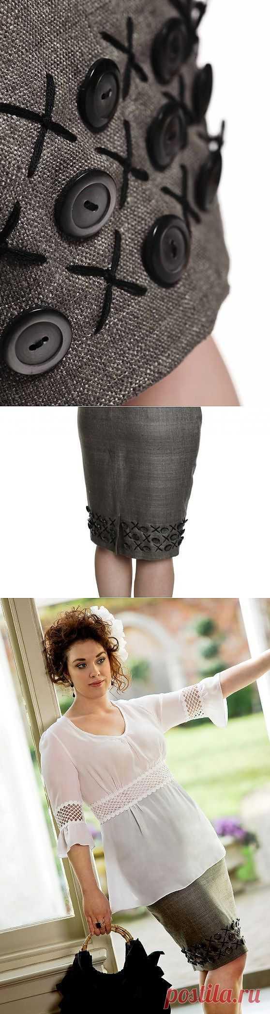 Крестики - пуговки / Декор / Модный сайт о стильной переделке одежды и интерьера