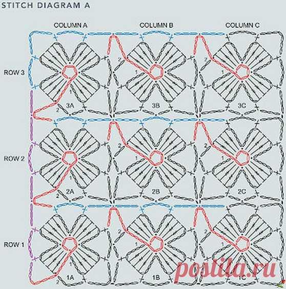 простой узор  безотрывного вязания