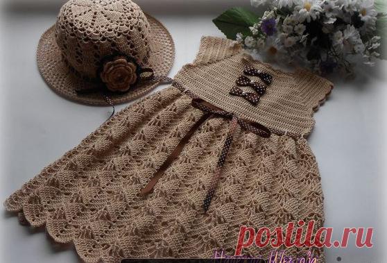 Платьице для девочки - запись пользователя Natali (Наталья) в сообществе Вязание спицами в категории Вязание спицами для детей