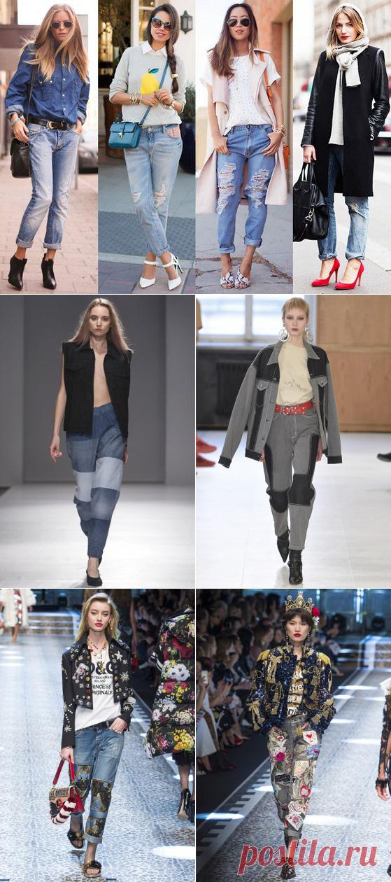 Модные женские джинсы осень-зима 2018-2019 фото