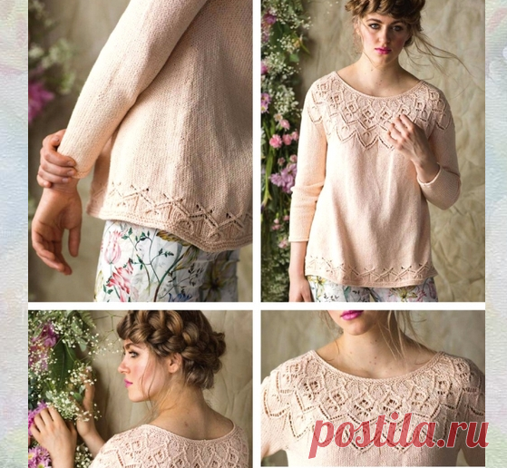 gelosia pullover by amy gunderson
