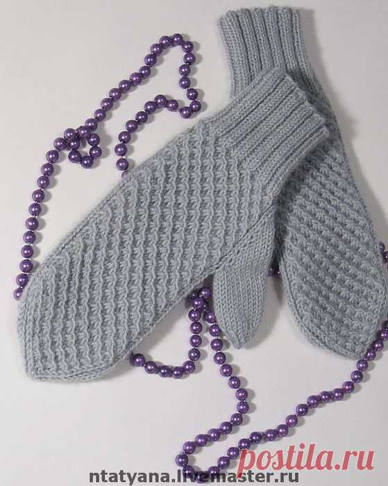 варежки узором звездочки вязание спицами постила