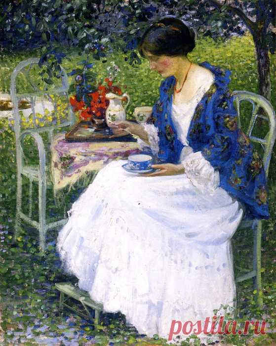 The exhausted lilac branch … ~ the Artist Richard Edward Miller