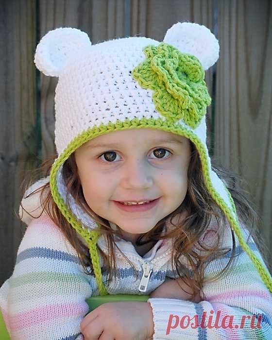 Как связать шапочку с ушками для ребенка