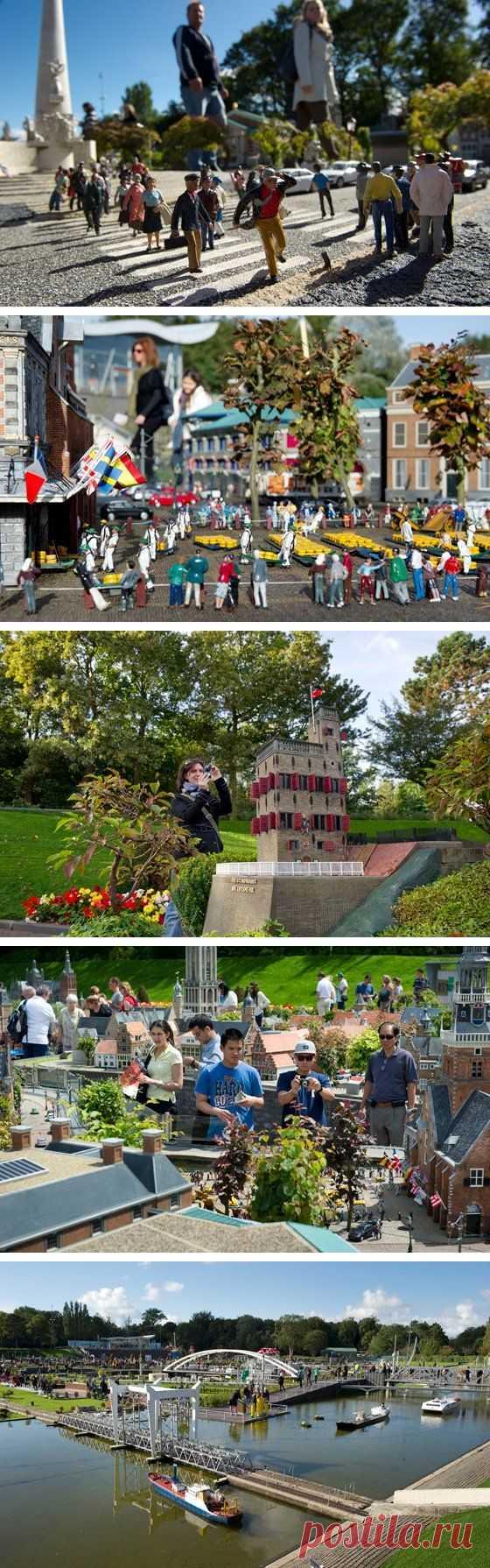¡Siéntese por el gigante! El museo de la miniatura. La La Haya, Países Bajos