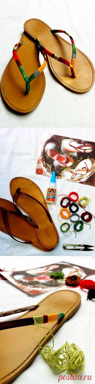 Тапки в обмотке (Diy) / Обувь / Модный сайт о стильной переделке одежды и интерьера