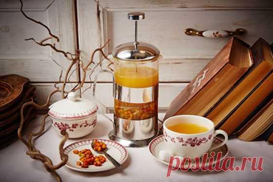Облепиховый чай с яблоком