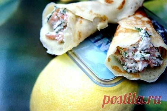 Творог со слабосоленым лососем и укропом рецепт – сэндвичи. «Еда»