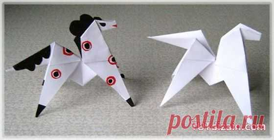 Лошадь оригами » Планета рукоделия