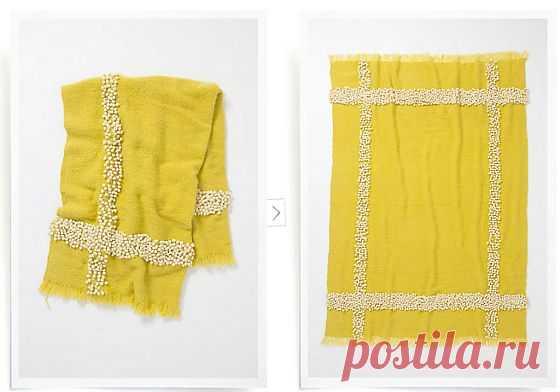 Вышитый узелками шарф Anthropologie / Шарфы / Модный сайт о стильной переделке одежды и интерьера