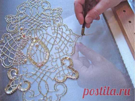 350 best ..Люневиль..Зардоси..3d объемная вышивка images on Pinterest | Couture embroidery, Embroidery designs and Sequins