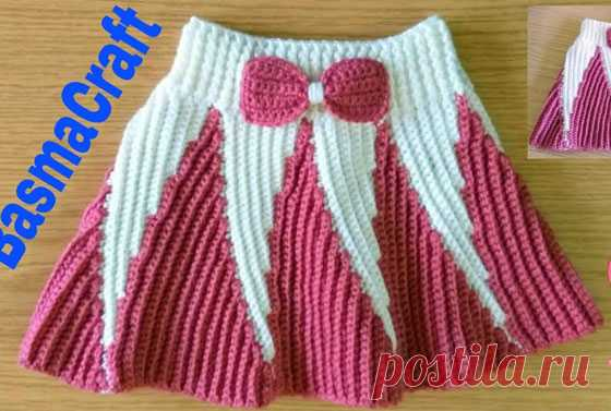 Юбка для девочки. Мастер-класс Мастер-класс по вязанию крючком юбки для девочки