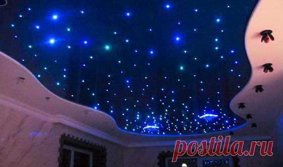 LED illumination of a ceiling: from a tape to \