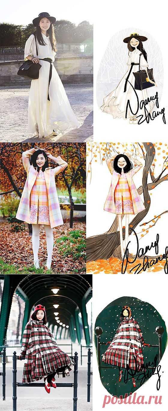 Художник-иллюстратор Nancy Zhang (трафик) / Блоггеры / Модный сайт о стильной переделке одежды и интерьера