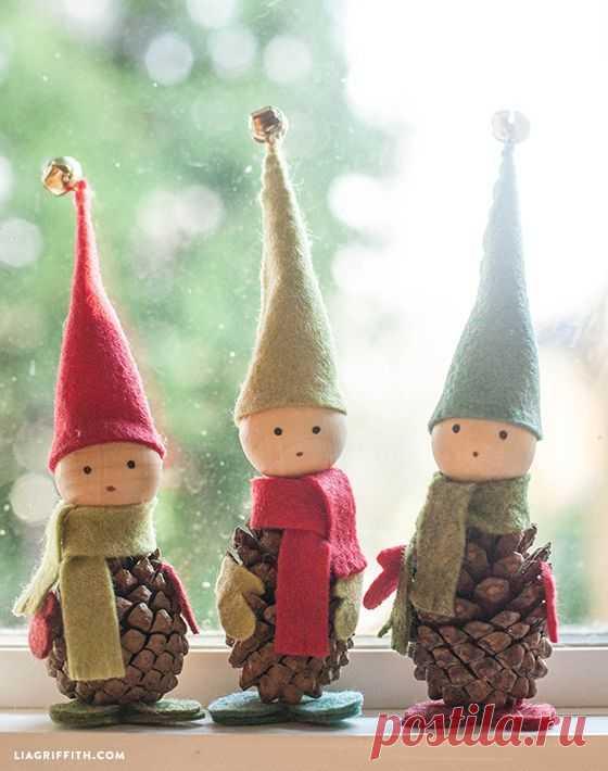 Сделайте вместе с детьми: Игрушки из сосновых шишек.