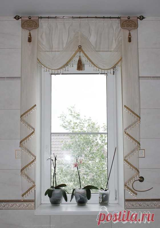 шторы для кухни на узкое окно фото опубликовала его