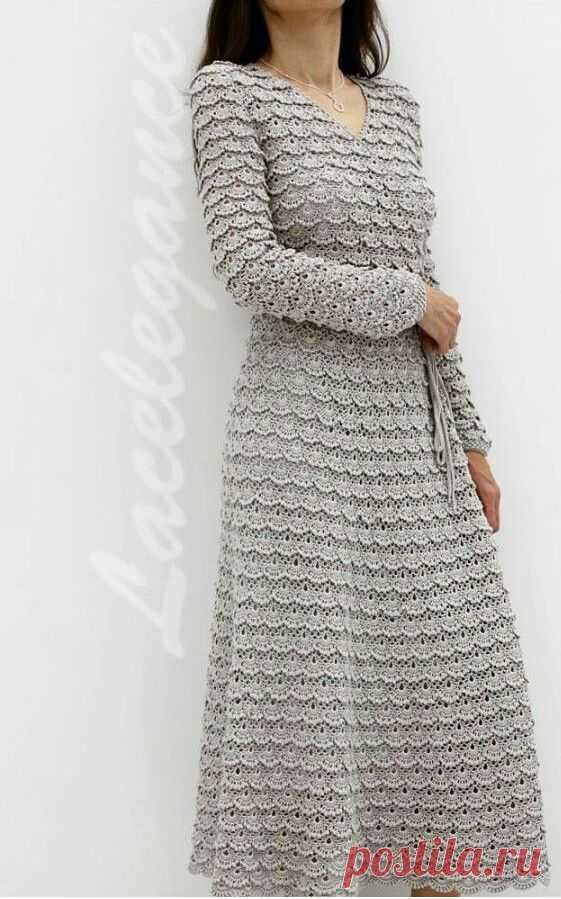 Платье из ленточного кружева Размещаю просто как идею. Мне очень понравилось. Кружево можно связать, можно использовать готовое, фасон тоже на свое усмотрение.