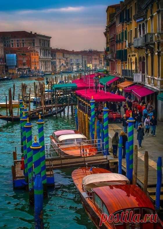 Красивые места Венеции - Гранд канал. Италия