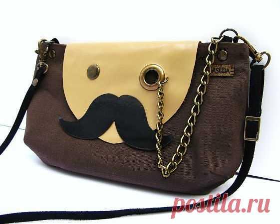 Усато-очкастая сумка / Сумки, клатчи, чемоданы / Модный сайт о стильной переделке одежды и интерьера