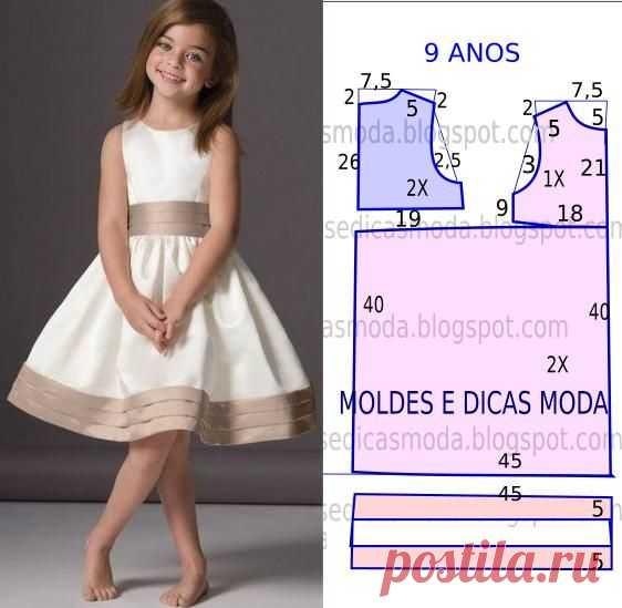 faaafc85b1e Выкройки нарядных детских платьев.