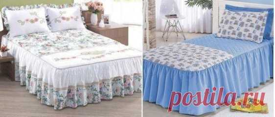 The pattern covered on a bed with the hands