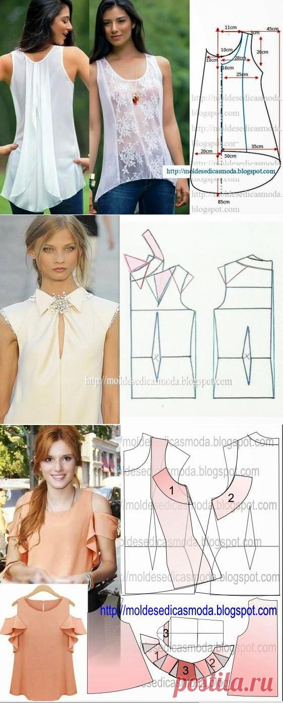 Шьем красивые блузки: 10 выкроек на любой вкус — Сделай сам, идеи для творчества - DIY Ideas